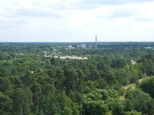 Blick nach Cottbus mit dem Heizkraftwerk